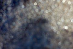 Blured金黄背景-好和美好的bokeh 免版税库存图片