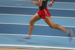 Blured athlete Stock Photography