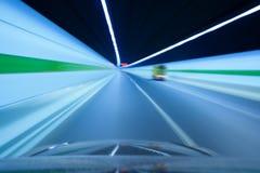 blured autostrady ruchu tunel Obraz Royalty Free
