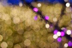 Blured bokeh av det ljusa trädet Arkivfoton