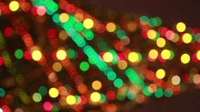 Blured christmas tree with colourful stock footage