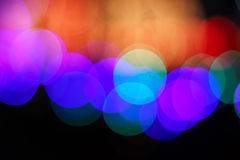 Blured city lights Royalty Free Stock Images