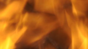 Blured flames of fire close up Royalty Free Stock Photo