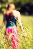 Blured girl in nature Stock Photography