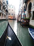 Blured Gondola and Grand canal Venice Italy royalty free stock photos