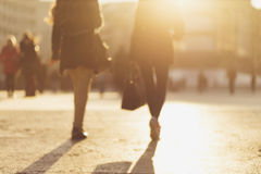 Blured image of people walking in the street Stock Photography