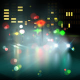 Blured lighhts in city night Royalty Free Stock Photography