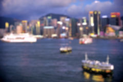Blured lighhts from peak Victoria, Hong Kong Royalty Free Stock Images