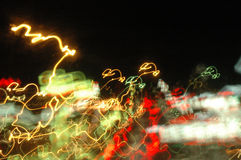 Blured lights. On the street - car Royalty Free Stock Photos