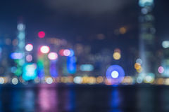 Blured lights from harbour city, Hong Kong Royalty Free Stock Photography