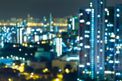 Blured lights , Hong Kong Stock Photography