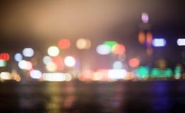 Blured lights of Hong Kong Royalty Free Stock Photography