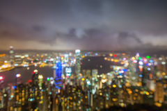 Blured lights from peak Victoria, Hong Kong Royalty Free Stock Photography