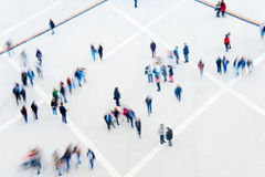 Blured motion of multitude people Royalty Free Stock Photo