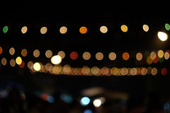 Blured night light. bokeh background, Blur concept. Royalty Free Stock Images