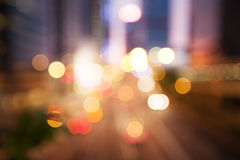 Blured Night lights of the Hong Kong Royalty Free Stock Photography