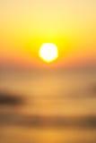 Blured orange sunset Royalty Free Stock Images