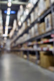 Blured rack storage warehouse Royalty Free Stock Photography