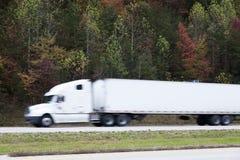 Blured semi truck Stock Photos