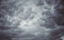 Blured some could on gray sky. Before the raining, ,Dark clouds before a thunder-storm Royalty Free Stock Images