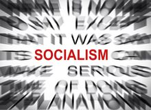 Blured text with focus on SOCIALISM royalty free stock photography