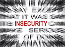 Free Blured Text With Focus On INSECURITY Stock Photos - 151696683