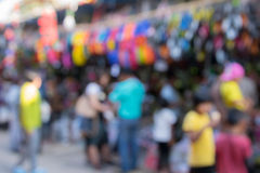 Blured Tourists at Chatuchak Weekend Market. The Thai capital's Chatuchak is the world's largest outdoor street markets Royalty Free Stock Image