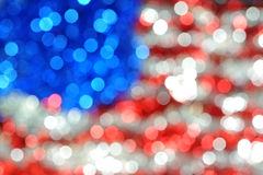 Blured usa. Blured american flag fron christmas decorations Stock Photos