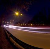 blurhuvudväg royaltyfri foto