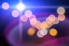 Blurred上色了轻的灯 免版税库存图片