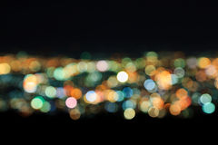 Blurred市光摘要  免版税库存照片