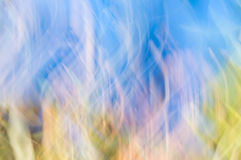 Blurred abstract background. Blue and white light. Stock Images