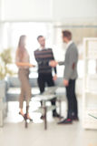 Blurred abstract background of business discussion people group. Stock Photo