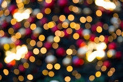 Blurred abstract background Christmas lights in the city. Seasonal lights captured in the city Royalty Free Stock Images
