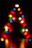 Blurred abstract background Christmas lights Stock Images