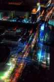 Blurred abstract background city nigh tview. Blurred abstract background lights, beautiful top view of Bangkok City at night Royalty Free Stock Photo