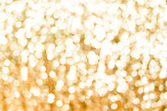 Blurred abstract background,Gold Bokeh light , sparkling theme.  Stock Images