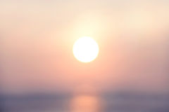 Blurred abstract background last light evening with sunset golden rush hour, pastel tone Stock Photography