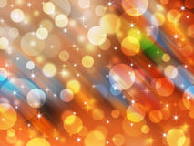 Blurred abstract background light and star. Blurred abstract background - celebration circle light and star Stock Image