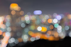 Blurred abstract background lights with beautiful Cityscape view Royalty Free Stock Image