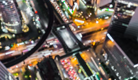 Blurred abstract background lights, beautiful top view of Bangkok City Royalty Free Stock Photos