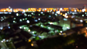 Blurred abstract background lights, skyline cityscape Stock Photos