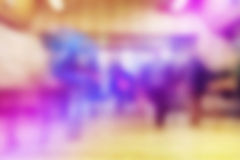 Blurred abstract background of people in urban environment. Blur crowd on the street Stock Image