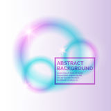 Blurred abstract background. Template with bright circles Royalty Free Stock Images