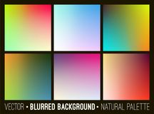Blurred abstract backgrounds collection. Smooth template design for creative decor web banners and mobile interface Royalty Free Stock Photos
