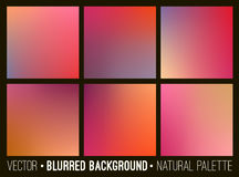 Blurred abstract backgrounds collection. Smooth template design for creative decor web banners and mobile interface.  Stock Photos