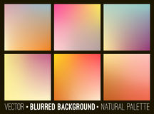Blurred abstract backgrounds set. Smooth template design for creative decor covers, banners and websites. Stock Image