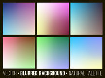 Blurred abstract backgrounds set. Smooth template design for creative decor web banners and mobile interface. Blurred abstract backgrounds set. Smooth template Royalty Free Stock Image