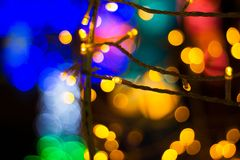Blurred abstract bokeh background for Decorations for Festivities. New Year and Holidays, Christmas stock photography