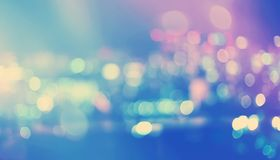 Blurred abstract bokeh background of Tokyo, Japan. At night Stock Photo